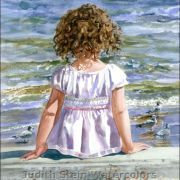 Judith Stein Watercolors | Judith Stein Watercolors - Children on the Beach | Kids