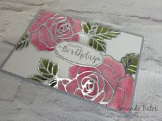 The Craft Spa - Stampin' Up! UK independent demonstrator : Double Watercoloured Rose Red Wonder