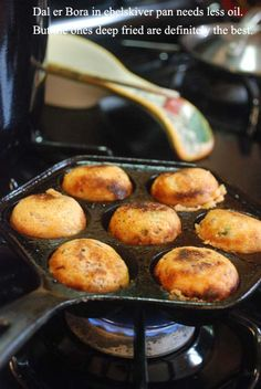 Bong Mom's CookBook: Dal er Borar Jhol -- Lentil fritters in a light gravy