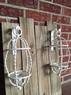 Vintage Candle Sconces Carriage Farmhouse Style Upcycled Mid Century Wall Decor | eBay