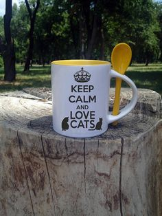 Pet Lover Cats gift lover cats Personalized mug Keep calm gift
