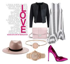 """Pink love"" by amrinjo ❤ liked on Polyvore featuring Yves Saint Laurent, Paper London, Michael Kors, Burberry and Eugenia Kim"