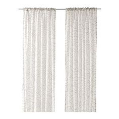 "FERLE curtains, 1 pair, gray, white Length: 98 "" Width: 57 "" Weight: 2 lb 3 oz Length: 250 cm Width: 145 cm Weight: 1.00 kg"