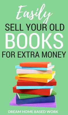 Have a HUGE collections of books? Today you easily get paid for selling your used books online for the best price. Home Based Work, Work From Home Tips, Make Money From Home, Make Money Online, How To Make Money, Sell Used Books Online, Sell Old Books, Sell Your Stuff, Things To Sell