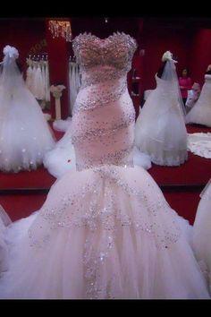 #pink #bling #weddingdress #bridal #sparkle