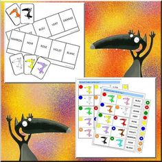 Des jeux tout en couleurs pour mes GS (Chez lulu - Des ressources pour l'école) French Colors, Film D, Grande Section, French Immersion, Classroom Language, Teaching French, Matching Games, Book Activities, Literacy