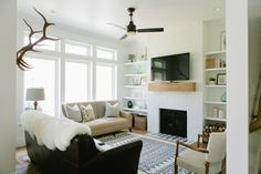 Modern Farmhouse Den - House of Jade Interiors Blog