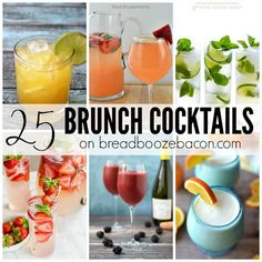 These 25 Brunch Cocktails will make sleeping in to have a late breakfast that much sweeter. It's time for some day drinking!
