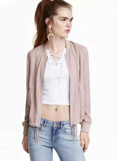 #Oasap.com - #Roawe Women's Simple Slim Short Jacket - AdoreWe.com