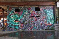 AMARA POR DIOS & FLESH 031  .. for Berlin Rising ..  [Berlin, Germany 2015] Berlin Germany, Urban Art, World, Painting, God, The World, Street Art, Painting Art, Paintings