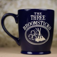 The Three Broomsticks Harry Potter Inspired  Sandblasted Etched ceramic coffee mug, harry potter gift, three broomsticks gift on Etsy, $22.81 CAD