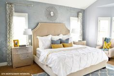 Beautiful gray blue bedroom