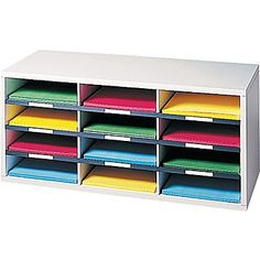 Fellowes® 12 and 24 Compartment Literature Organizers