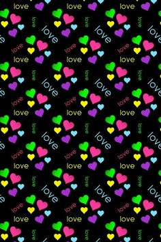 Black Love Heart wallpaper pattern