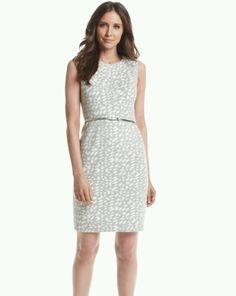 Calvin Klein Women's Belted Scuba Sheath Dress Grey Size 10 | eBay