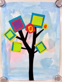 Art with Ms. Gram: Color Mixing Trees (1st)