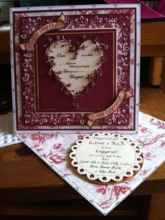 Handmade card by Gail Wolfe using memory box die