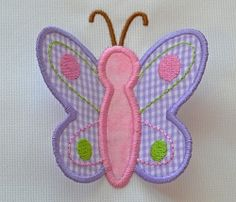 3D Butterfly - 3 Sizes! | What's New | Machine Embroidery Designs | SWAKembroidery.com Applique for Kids