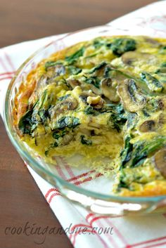 spinach mushroom frittata recipe step by step