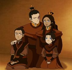 Prince Zuko the Fire Lord and his Fire Queen, Katara with their son and daughter from Avatar The Last Airbender Zuko And Katara, Avatar Zuko, Avatar Funny, Team Avatar, The Last Avatar, Avatar The Last Airbender Art, Zutara Fanfiction, Legend Of Aang, Prince Zuko