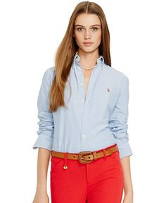 Polo Ralph Lauren Long-Sleeve Oxford Shirt - Polo Ralph Lauren - Women - Macy's