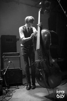 Kiah with his double bass.
