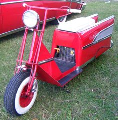 custom Cushman w/ fins-if George G. would have seen this, he would have done this.