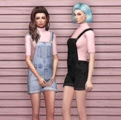 [SIMS 4] Topshop MOTO Dungarees | zhutra — download page