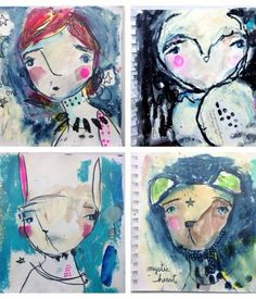 art journal pages by #juliettecrane