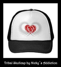 Tribal Skull Design on Truckerscap , Design by Nicky`s Addiction