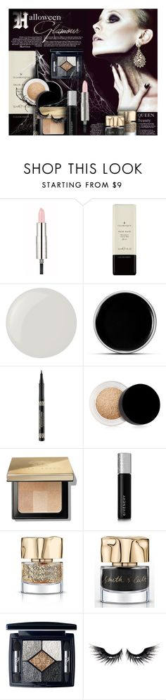 """Halloween Glamour"" by thewondersoffashion ❤ liked on Polyvore featuring beauty, Givenchy, Essie, Max Factor, Inglot, Bobbi Brown Cosmetics, Smith & Cult, Christian Dior, MAKE UP FOR EVER and Halloween"