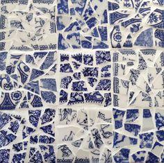 Broken china mosaic tile sampler