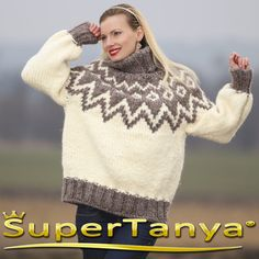 Made to order Nordic hand knitted mohair wool por supertanya