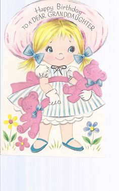 M323 Vintage  Greeting Card by Rust Craft girl in by jarysstuff, $3.00