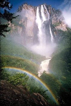 Angel Falls, the worlds highest waterfall is in Venezuela nature-earth Places Around The World, Oh The Places You'll Go, Places To Travel, Places To Visit, Around The Worlds, Beautiful Waterfalls, Beautiful Landscapes, Famous Waterfalls, Angel Falls Venezuela