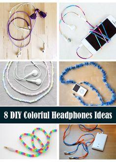 8 DIY Colorful Headphones Ideas