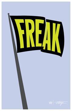 Let It Fly! Freak Flag, Posters, Let It Be, Digital, Etsy, Vintage, Scale, Poster, Vintage Comics