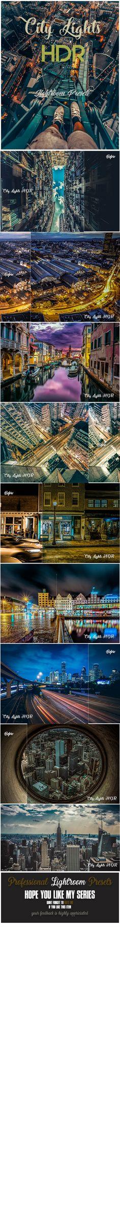 16 City Lights HDR Lightroom Presets - #Lightroom Presets #Add-ons
