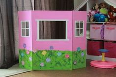 DIY puppet theater craftshackoc.com Projects For Kids, Diy For Kids, Crafts For Kids, Easy Crafts, Diy Birthday, Birthday Gifts, Play Houses, Preschool Activities, Kids Playing