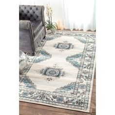 nuLOOM Vintage Persian Diamond Cream Rug  (5' x 8') | Overstock.com Shopping - The Best Deals on 5x8 - 6x9 Rugs