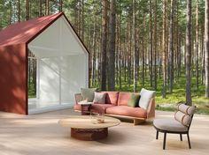 Coffee table / round / garden / contemporary - MESH - KETTAL