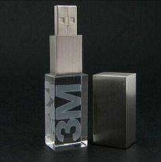 Crystal Glass USB Flash Drive, Flash Memory with Custom Logo on Made-in-China.com