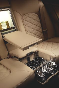 Limousine ~ Champagne for the pain Jets, Limousine Interior, Bentley Mulsanne, Automobile, Luxe Life, Bling, Luxury Interior, Luxury Decor, Interior Design