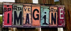 Yard Art Ideas From Plates | ... made entirely out of license plates made from the individual states
