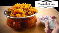 Vegetable Biryani - Fast Series - Detailed Recipe in link Bread Dishes, English Channel, Types Of Bread, Biryani, Bread Recipes, Vegetables, Cooking, Link, Koken