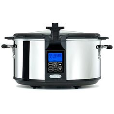BELLA 6.5 Quart Programmable Searing Slow Cooker with Locking Lid, Chrome Color – KITCHEN APPLIANCES