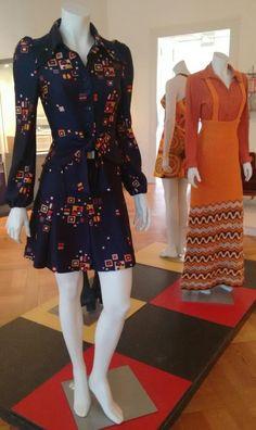 Mode in de 70's, gezien in Landesmuseum Oldenburg.