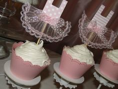 Cupcakes at a Ballerina Party #ballerina #partycupcakes