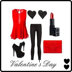 """Valentine's Day 2014"" outfit by lgel on Polyvore"