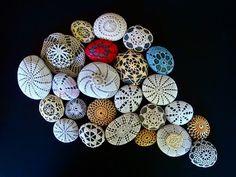 crochet-covered rocks